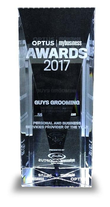 2017 Optus Business Award Trophy Image
