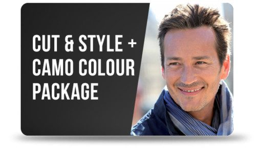 The Cut & Style + Camo Colour Gift Card Package Image